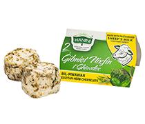 2 Gibniet Nixfin t'Ghawdex bil-Hwawar bil-Halib tan-Naghag (Sheep Cheeselets with Herbs)