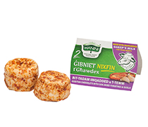2 Gibniet Nixfin t'Ghawdex bit-Tadam Imqadded u t-Tewm bil-Halib tan-Naghag (Sheep Cheeselets with Sun Dried Tomatoes and Garlic)