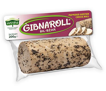 Gibnaroll bil-Bzar (Peppered Gozitan Cheese Roll)