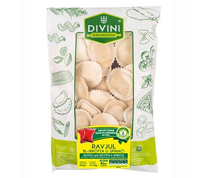 Ricotta & Spinich-Filled Ravioli